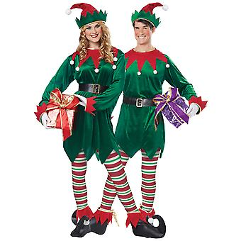 Christmas Elf Santa's Helper Women Men Costume
