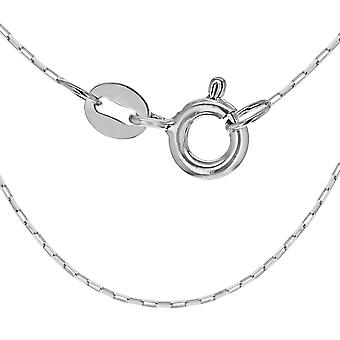 "925 Sterling Silver Square Paper Chain Necklace for Women Size 18"" TJC"