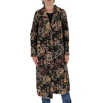 L'autre Koos B1580460100f999 Women's Black Acryl Coat