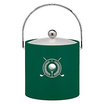 Kasualware 3 Qt Ice Bucket Green Golf