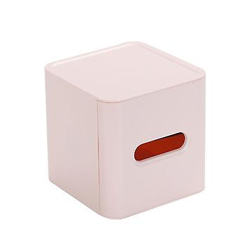 Plastic Household Living Room Cylindrical Roll Paper Drawer Pink