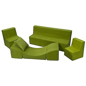 Toddler møbler sæt skum udvidet grøn