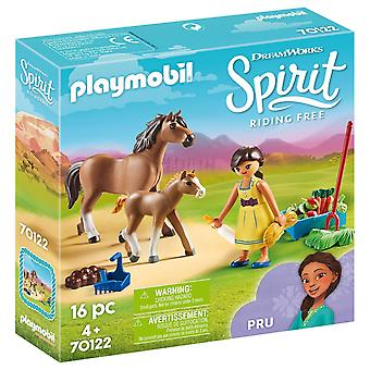 Playmobil - DreamWorks Spirit Pru with Horse and Foal Playset