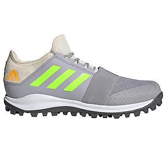 adidas Divox 1.9S Mens Field Hockey Trainer Shoe Grey/White/Green