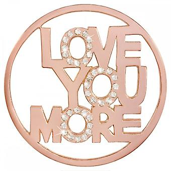 Nikki Lissoni Love You More Large Rose Gold Plated Coin C1413RGL Nikki Lissoni Love You More Large Rose Gold Plated Coin C1413RGL