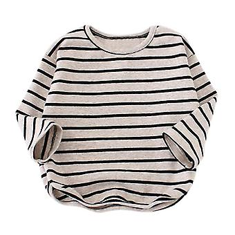 Spring Boys T-shirt Children Tops Clothing Striped Long Sleeve Tops Shirts Kids Girls Tee Toddler Warm