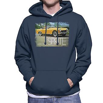 Austin Healey Sprite Mark IV Yellow British Motor Heritage Men's Hooded Sweatshirt