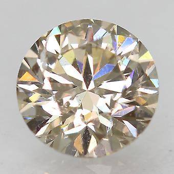 Certified 0.70 Carat Top Light Brown VS1 Round Brilliant Natural Diamond 5.65mm