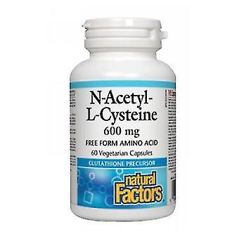 Luonnolliset tekijät N-asetyyli-L-kysteiini, 60 veg-korkkia
