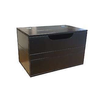 Wood4you - Spielzeugbox Kick schwarz 90Lx50Hx50D cm