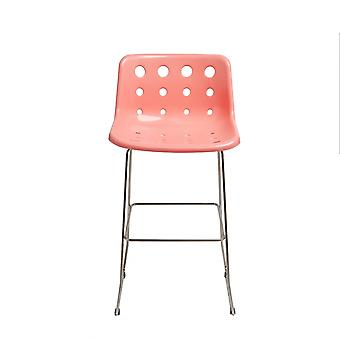 Loft Robin Day Skid Coral Pink Plastic Polo Bar Stool