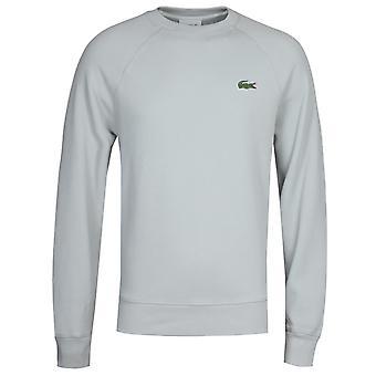 Lacoste Organic Cotton Piqué Light Grey Crew Neck Sweatshirt