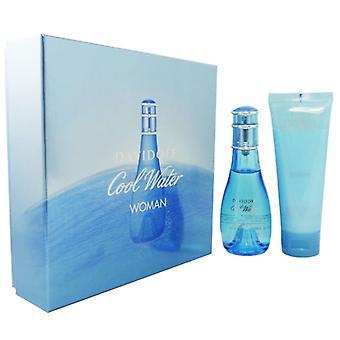 Davidoff Cool Water Woman Eau de Toilette Spray 50ml Gift Set