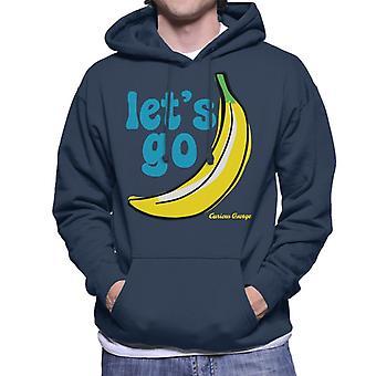 Curious George Let's Go Banana Men's Hooded Sweatshirt