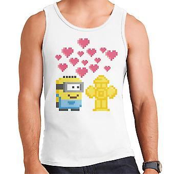 Despicable Me Minion Pixel Love For Fire Hydrant Men's Vest
