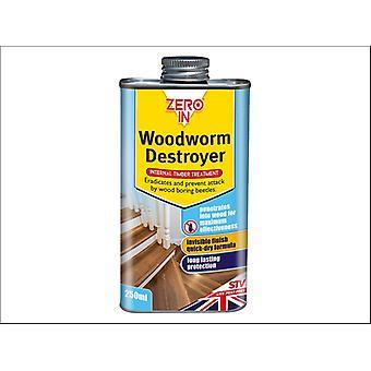 STV Woodworm Destroyer Can 250ml ZER978