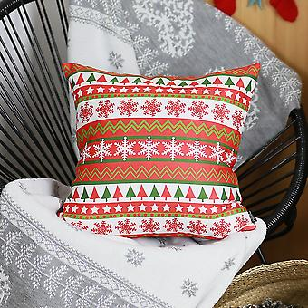 Snowflake Merry Christmas Square - Pillow Cover