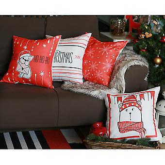 God Jul Tryckt Pillow Cover Set