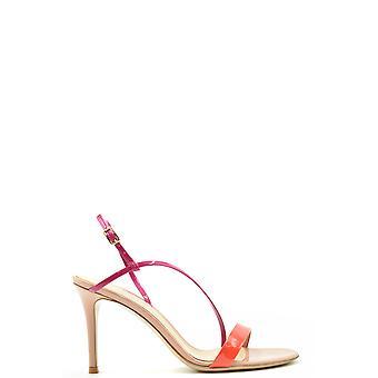 Gianvito Rossi Ezbc443013 Women's Multicolor Leather Sandals