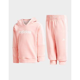 New adidas Girls' Core Overhead Tracksuit Pink