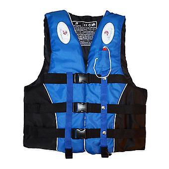 Vie de ski de bateau de natation de veste de gilet de sauvetage d'enfants avec l'homme de sports d'eau de sifflet