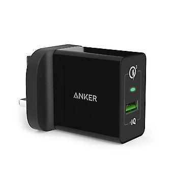 Quick charge 3.0, anker 18w 3amp usb wall charger (quick charge 2.0 compatible) powerport+ 1 for gal