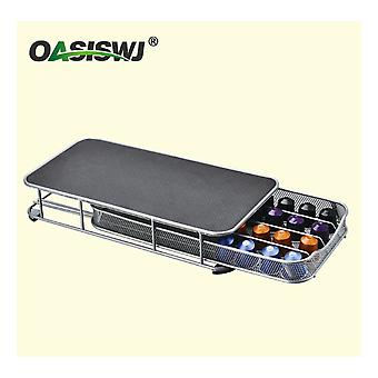 Oasiswj Coffee Machine Base Nespresso Coffee Machine Special Base Can Hold 40 Capsules