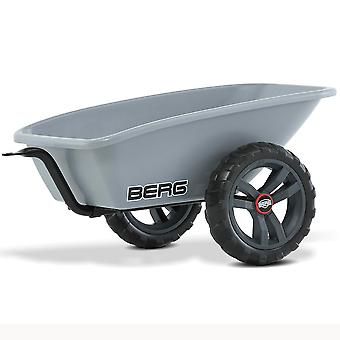 BERG grey buzzy trailer s with tow bar for all berg buzzy go kart