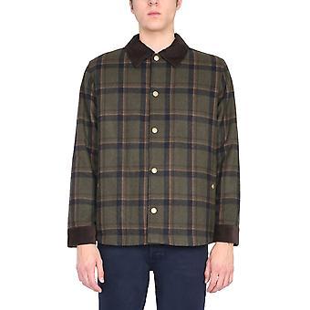 A.p.c. Woalqm02648jac Men's Brown Wool Outerwear Jacket