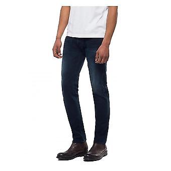 Replay Jeans Replay Hyperflex+ Slim Fit Anbass Premium Denim Jean - Dark Blue