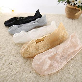 New Transparent Short Socks Summer Hollow Out Female Soft Invisible Breathable