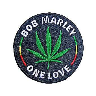 Bob Marley Patch Leaf uusi virallinen musta
