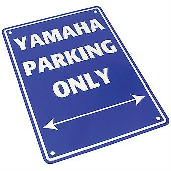 Panneau de stationnement en aluminium Bike It - Yamaha Parking Only