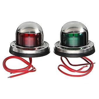 1-pare 12v ruostumaton teräs punainen vihreä keula led navigointi valot vene marine