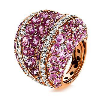 Luna Creation Sensationele Ring Kleur Steen 1E299R854-1 - Ringbreedte: 54