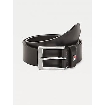 Adan Black Belt In Leather V echt - Tommy Hilfiger