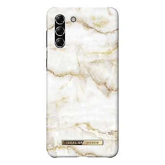 iDeal Of Sweden Samsung Galaxy S21 Plus - Golden Pearl Marble