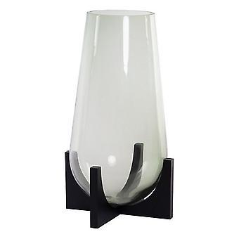 Jarrón DKD Decoración del hogar Madera Cristal Moderno (21 x 21 x 38 cm)