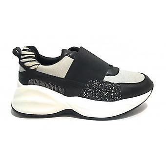 Women's Sneaker Running Without Laces With Wedge Gold&gold Black/ Zebra D20gg20