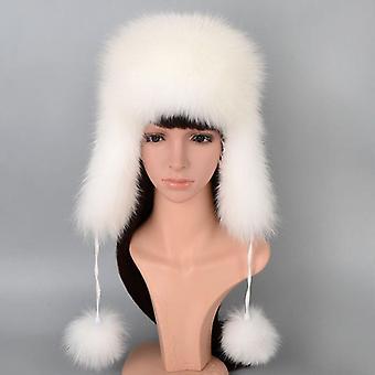 Echte Frauen Fuchs Pelz Hut mit Ohrenklappe