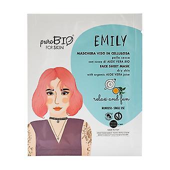 Emily Sheet Mask - Torr hud - Relax & Fun 1 enhet