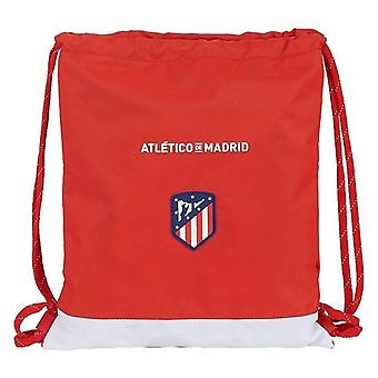 Backpack with strings atlético madrid white red
