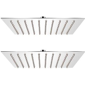 vidaXL Rain shower heads 2 pcs. stainless steel 20 x 20 cm