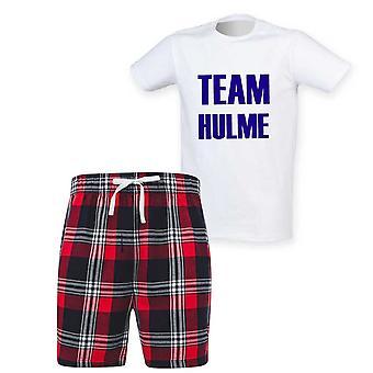 Miesten henkilökohtainen joukkueen sukunimi Tartan Lyhyt Pyjama Set
