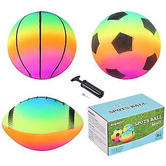 INPODAK Pack of 3 Sports Ball with 1 Pump, Mini Bouncy Balls for Toddlers/Kids, Toy