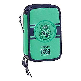 Triple Pencil Case Real Madrid C.F. Green (41 Pieces)