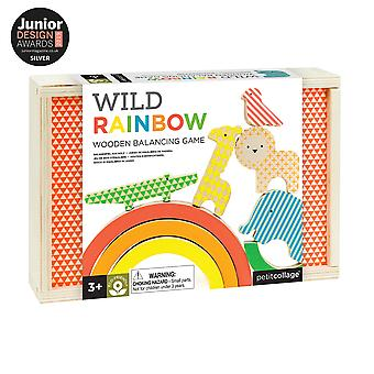 Petit collage - wild rainbow wooden balancing game