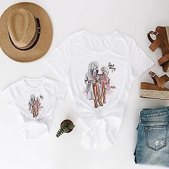 Perhe look äiti ja tytär vaatteet, Super Baby t-paita