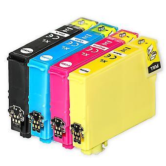 1 set van 4 inktcartridges ter vervanging van Epson 502XL Compatible/niet-OEM van Go Inks (4 inkten)