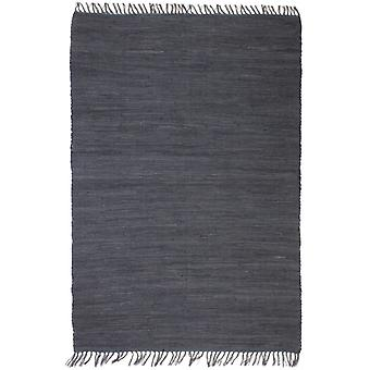 vidaXL 手織りのチンディカーペットコットン 80x160 cm 無煙炭